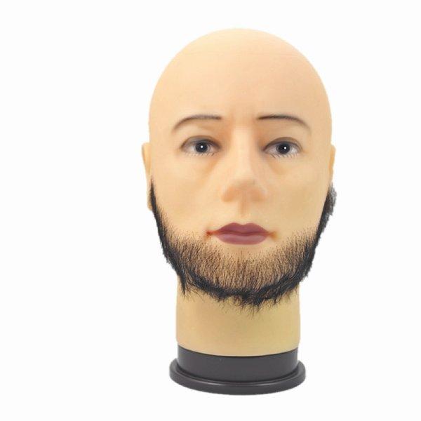 画像1: 付け髭 普段使いにもぴったり薄いバージョン 人毛100% つけひげ ひげ あご リアル 本物  RM-1028 (1)