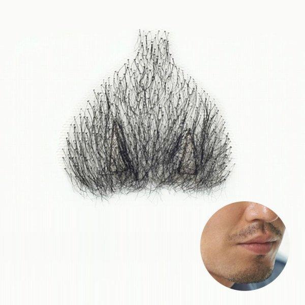 画像1: 付け髭 あごひげの 普段使いにもぴったり薄いバージョン 人毛100% つけひげ ひげ あご リアル 本物 RM-1034 (1)